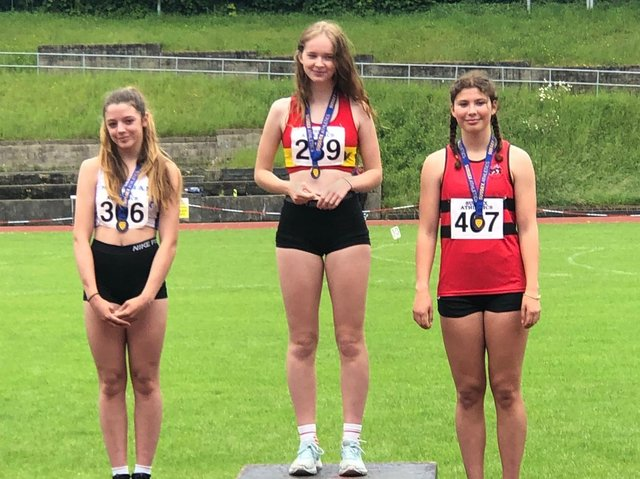 Rosie Kornevall, 14, won gold at the Sussex County Championships in the under-15s 300m