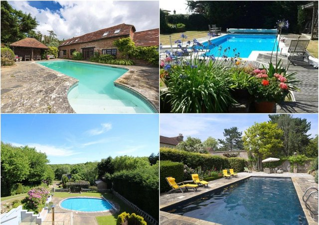 These Sussex homes all have their own swimming pools