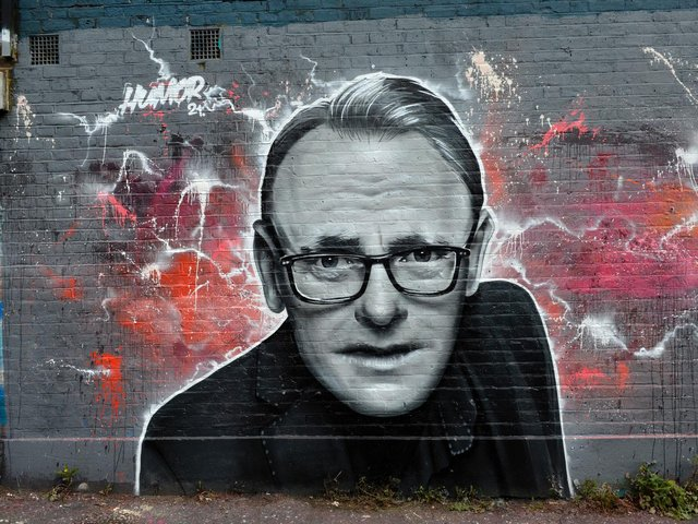 The mural of Sean Lock has been getting a lot of attention